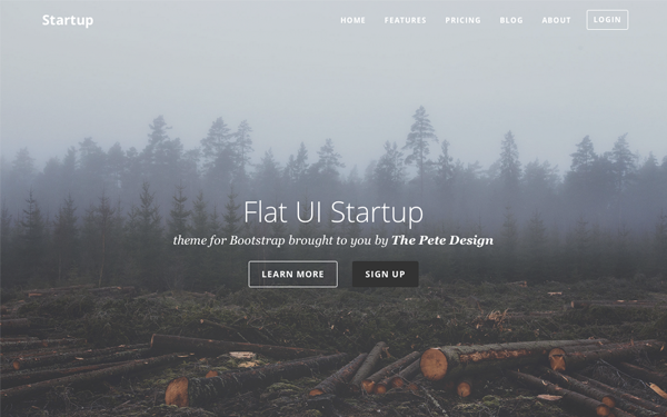 Flat UI Startup - Live Preview - WrapBootstrap