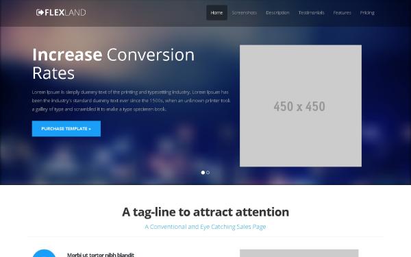 FlexLand Landing Page | Landing Pages | WrapBootstrap
