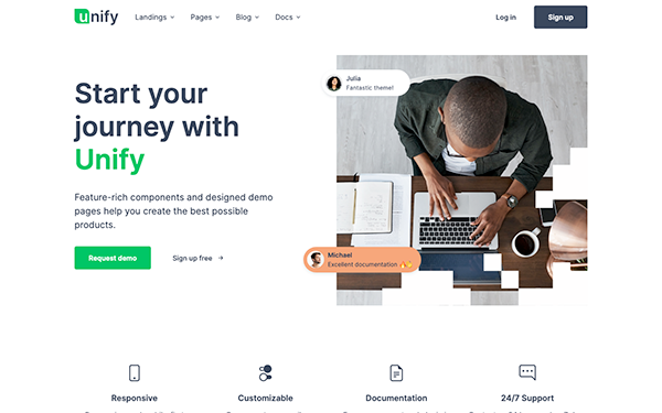 Unify Responsive Website Template Wrapbootstrap
