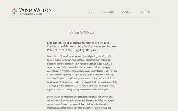 Wise Words - Responsive HTML5 Template - Live Preview - WrapBootstrap