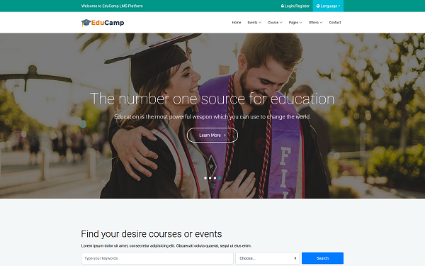 EduCamp - Education Template
