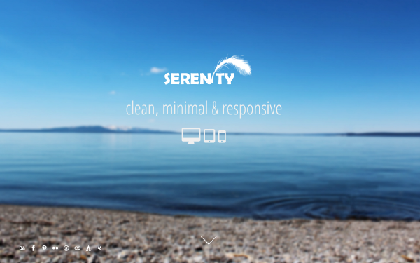 Serenity Minimal One Page Template - Live Preview - WrapBootstrap