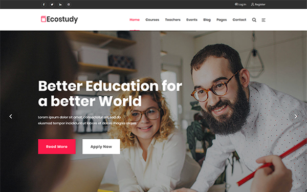 [DOWNLOAD] - EcoStudy - Education HTML5 Template
