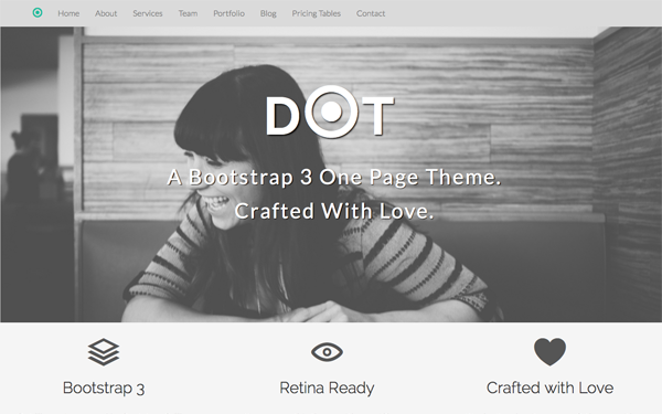 DOT - Bootstrap 3 One Page Theme - Live Preview - WrapBootstrap