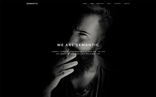 Semantic - Minimal Portfolio Template - Live Preview - WrapBootstrap