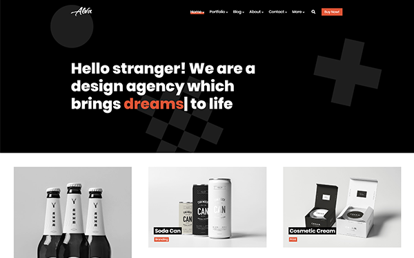 Alva - Portfolio HTML Website Template