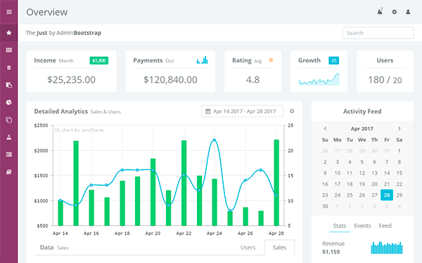 DOWNLOAD - The Just - Admin Bootstrap Template