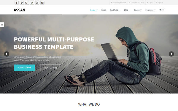 Assan business wordpress woocommerce wrapbootstrap assan business wordpress woocommerce flashek