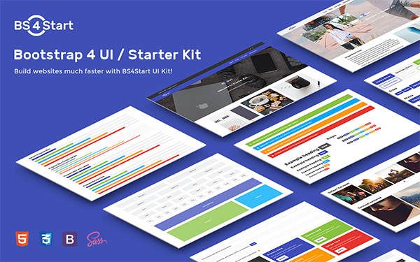 DOWNLOAD - BS4Start - Bootstrap 4 UI / Starter Kit