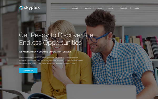Skyplex - Creative Studio Template - Live Preview - WrapBootstrap