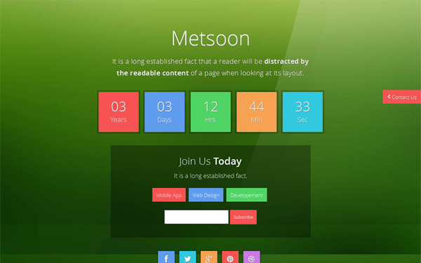 Metsoon - Metro Coming Soon Theme