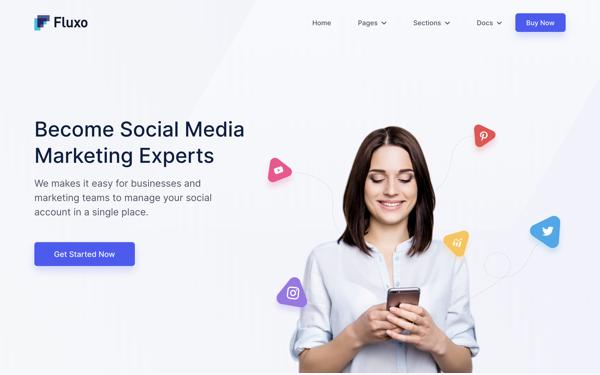 DOWNLOAD - Fluxo - Social Media Marketing Template
