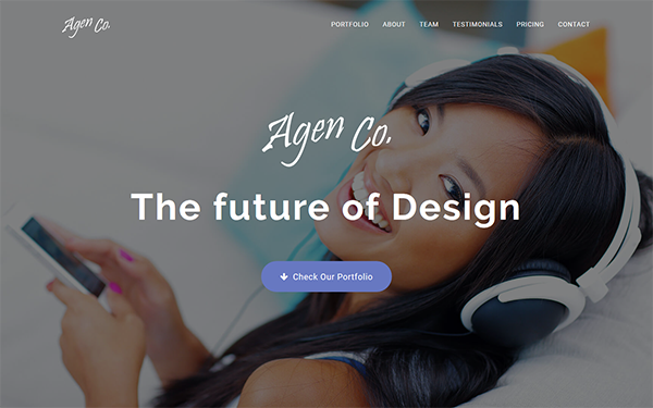 Agen - One Page Creative Portfolio - Live Preview - WrapBootstrap