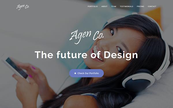 Agen - One Page Creative Portfolio