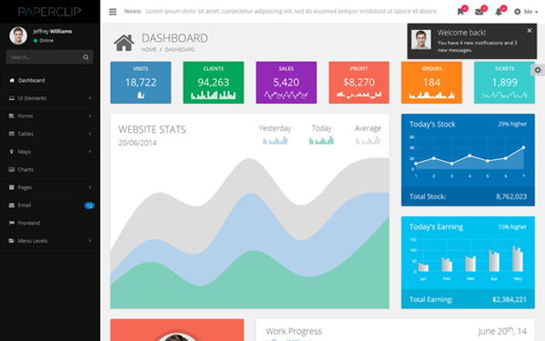 Kertas - Responsive Admin Template - Live Preview - WrapBootstrap