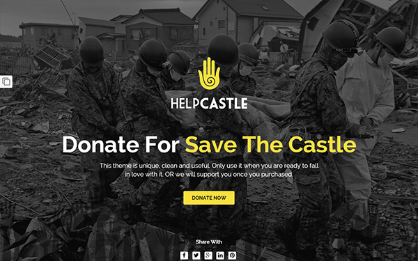 HelpCastle - Donation Landing Page