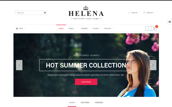 DOWNLOAD - Helena - HTML + OpenCart Store Theme