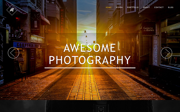 Awesome Photography Template - Live Preview - WrapBootstrap