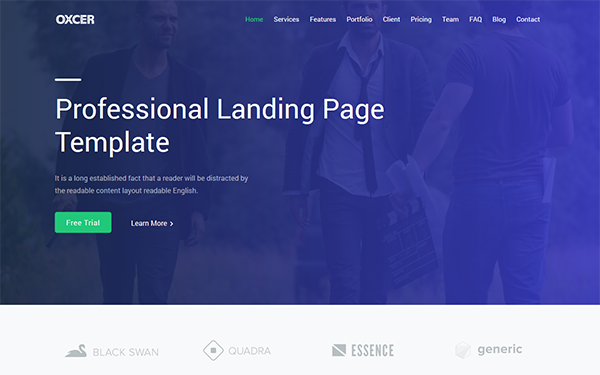 DOWNLOAD - Oxcer - Responsive Landing Page Template