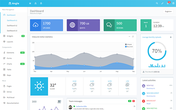 Angle Bootstrap Admin Template By Themicon Wrapbootstrap