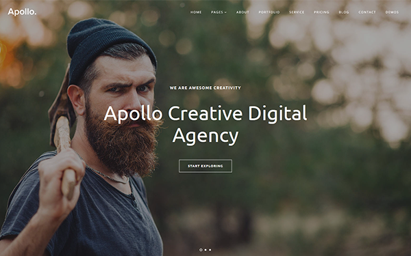 Apollo - One Page Bootstrap 4 Template