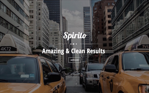 Spirito - One Page Responsive Template
