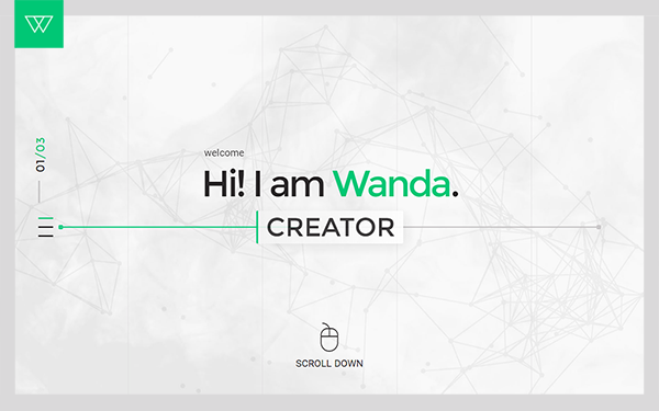WANDA - The Unique Minimal Portfolio - Live Preview - WrapBootstrap
