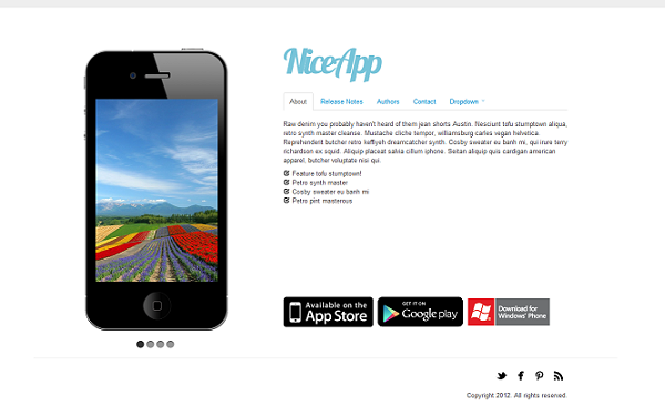 NiceApp - 3 in 1 Theme for Mobile Apps | Landing Pages | WrapBootstrap