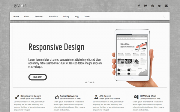 Gravis Industrial Bootstrap Theme
