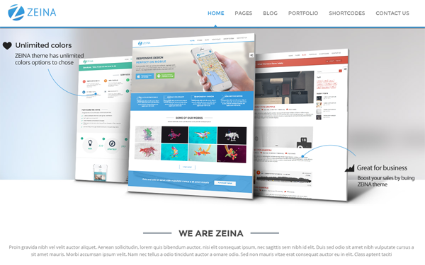 Zeina - Responsive Multipurpose Template - Live Preview - WrapBootstrap