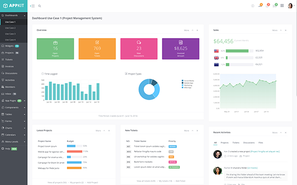 Admin AppKit | Admin Theme + AngularJS - Live Preview - WrapBootstrap