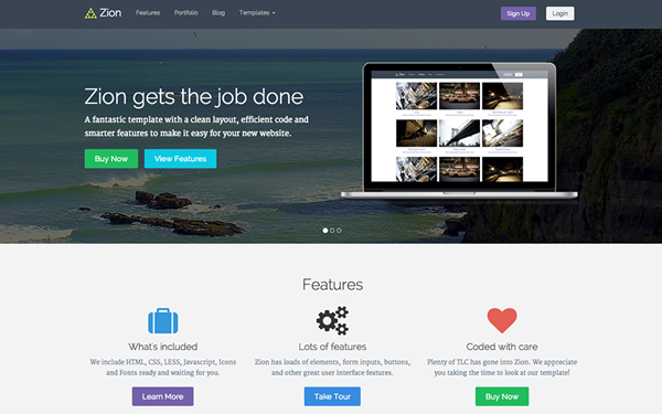Zion Responsive Template - Live Preview - WrapBootstrap