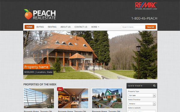 Peach Realestate - Wordpress