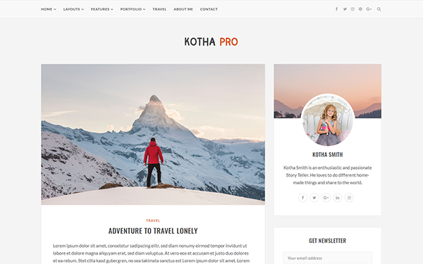 Kotha pro responsive blog template bootstrap blog for Pro photo blog templates