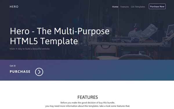 hero the multi purpose html5 template business corporate