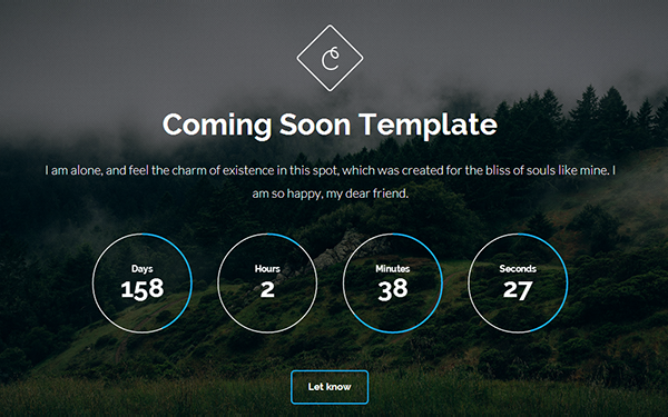 Cortes - Coming Soon Template