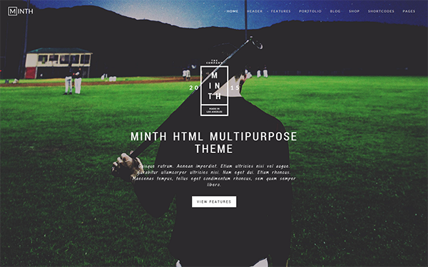 Minth multipurpose html template wrapbootstrap for Getbootstrap com templates
