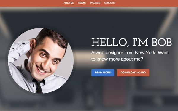cvilized timeline style cv resume resume web template - Resume Web Template