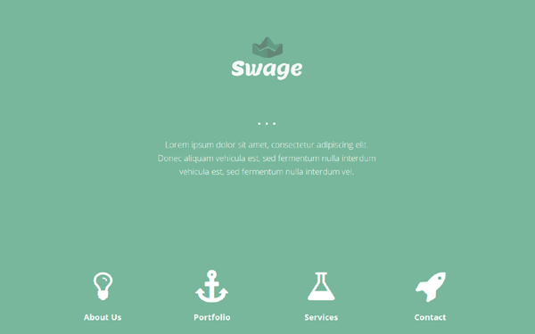 Swage - HTML5 Parallax Template
