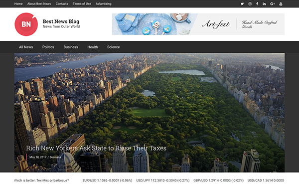 DOWNLOAD - Best News Blog - WordPress Theme