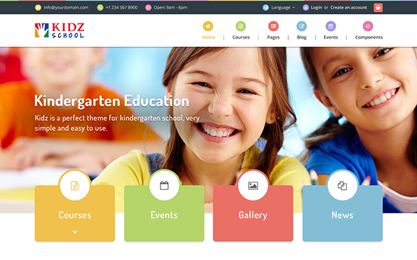 Kidz Multipurpose Children Kids Theme Wrapbootstrap