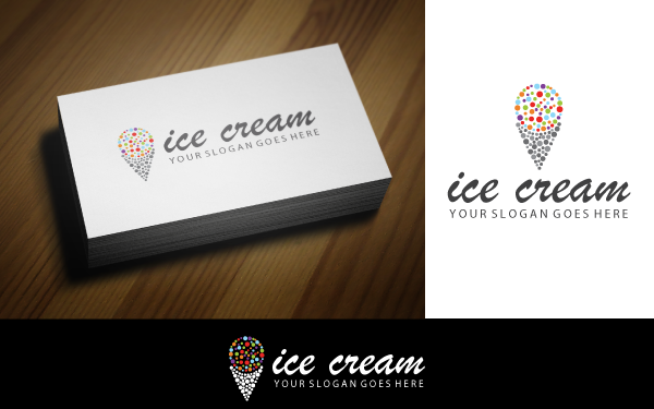 Colorful Ice Cream V-2 Logo Template