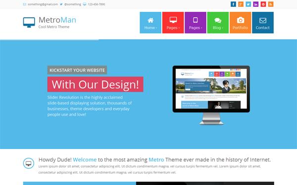 MetroMan - Responsive Metro Theme | Business & Corporate | WrapBootstrap