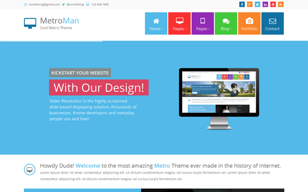 metroman responsive metro theme business corporate wrapbootstrap