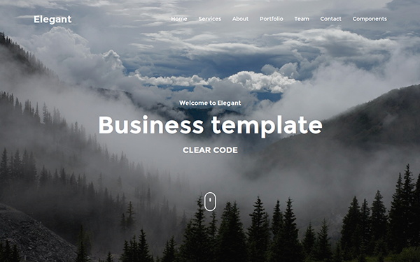 Elegant - One Page Business Theme