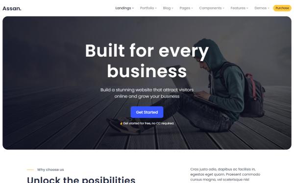 Assan - Responsive 24+ Templates + Admin | WrapBootstrap