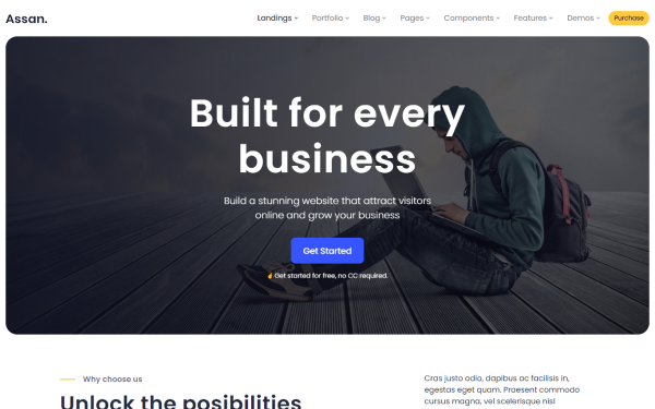 Assan - Multipurpose 18+ Templates + Admin