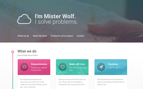 Mister Wolf - One Page Theme - Live Preview - WrapBootstrap