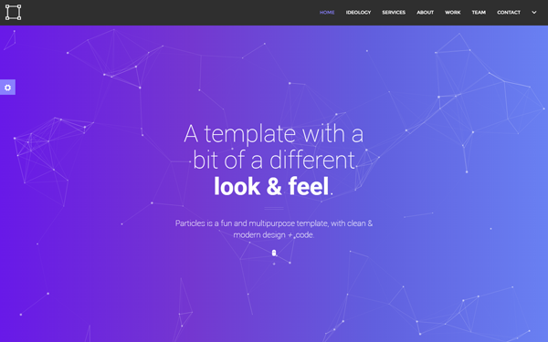 Particles | Personal + Agency Template