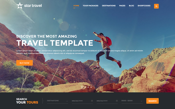 star travel tour booking theme admin